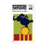 Circus Elephant Postage Stamp