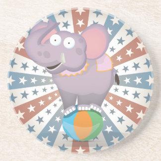Circus Elephant Sandstone Coaster