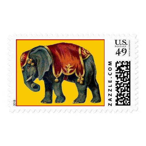 Circus Elephant Stamp