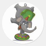 Circus Elephant Stickers
