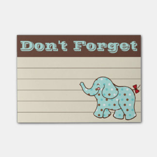 Circus Elephant To Do List Post It Notes
