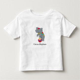 Circus Elephant with Customizable Text Toddler T-shirt