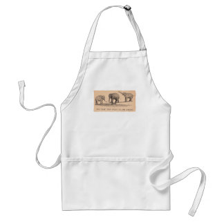 circus elephants adult apron
