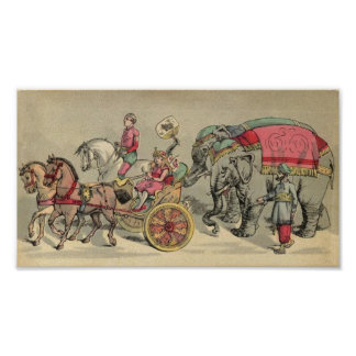 Circus Elephants and Horses Posters