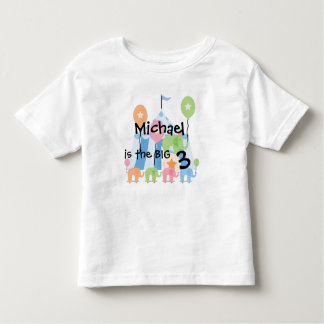 Circus Elephants Customizable Birthday T-shirt