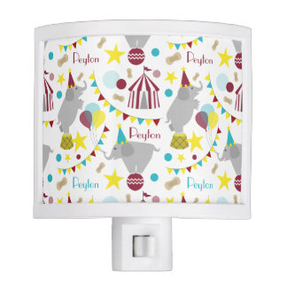 Circus Elephants Personalized Night Light