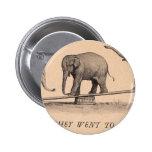 circus elephants pinback buttons
