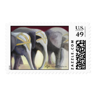 Circus Elephants Stamps