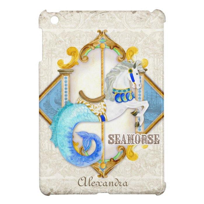 Circus Fantasy Seahorse Carousel Vintage Baby iPad Mini Covers
