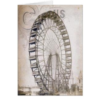 Circus Ferris Wheel Card