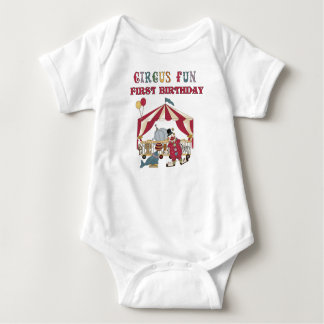Circus First Birthday Baby Bodysuit