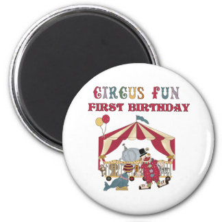 Circus First Birthday Magnet