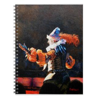 Circus Flora Narrator Original Oil Painting Spiral Notebooks