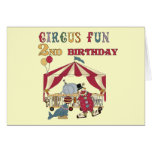 Circus Fun 2nd Birthday Tshirts and Gifts Greeting Cards