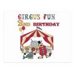 Circus Fun 2nd Birthday Tshirts and Gifts Post Card