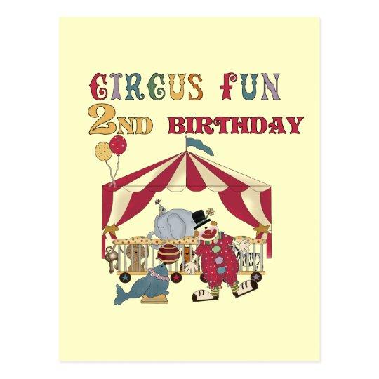 Circus Fun 2nd Birthday Tshirts and Gifts Postcard