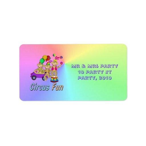 Circus Fun Address Label