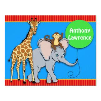 Circus FUN Animal Note Card Custom Invitations