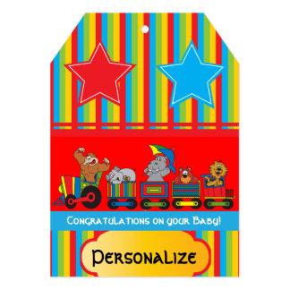 Circus Fun Baby Shower Theme Card