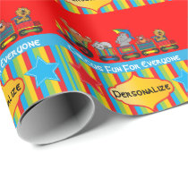 Circus Fun Baby Shower Theme Wrapping Paper