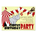 Circus Fun Birthday Party Personalized Announcement
