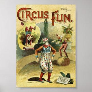 Circus Fun Clowns - Vintage Circus Poster