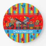 Circus Fun for Everyone Nursery Theme for Baby Clock