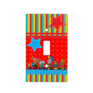 Circus Fun for Everyone Nursery Theme for Baby Light Switch Cover
