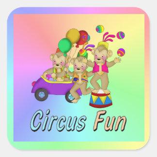 Circus Fun Square Sticker