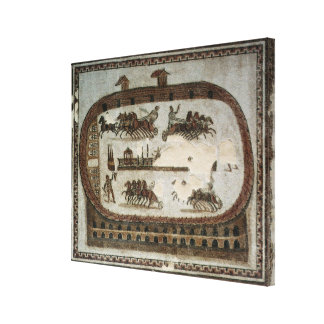 Circus Games, from Carthage, Roman Canvas Print