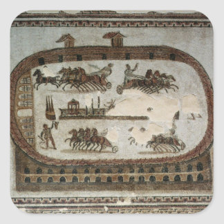 Circus Games, from Carthage, Roman Square Sticker