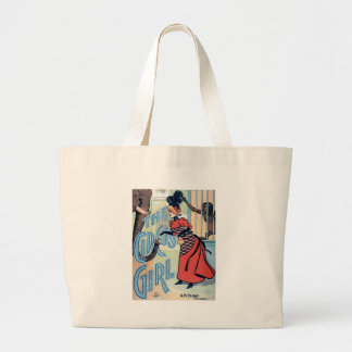 Circus Girl Vintage poster woman monkey Canvas Bags