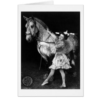 Circus Girl with Horse, 1908 Card