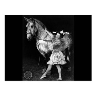 Circus Girl with Horse, 1908 Postcard