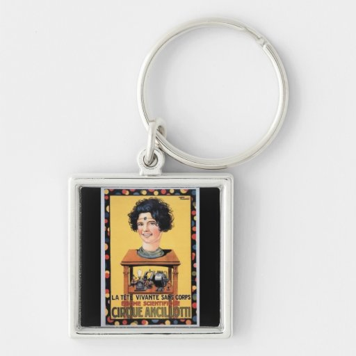 Circus Head Ancilotti Vintage Poster Art Key Chains