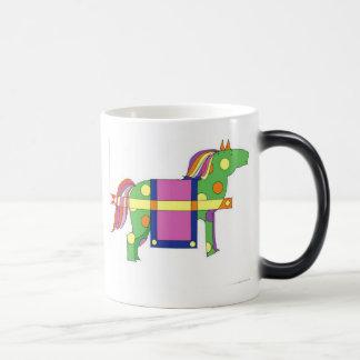 circus horse  11 oz magic heat Color-Changing coffee mug