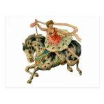 Circus Horse and Dancer Postcard
