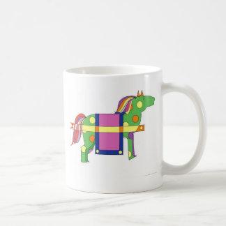 circus horse  classic white coffee mug