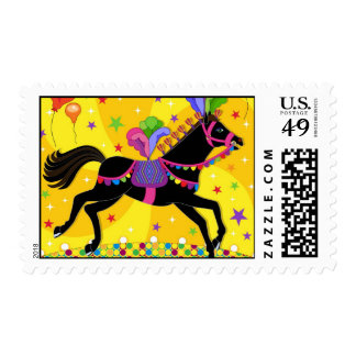 circus horse postage stamp
