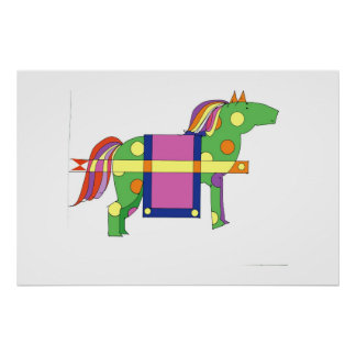 CIRCUS HORSE POSTER