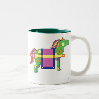 circus horse  Two-Tone coffee mug
