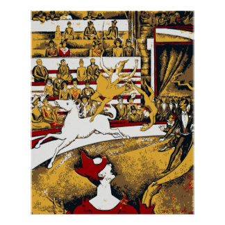 Circus impressionist painting poster