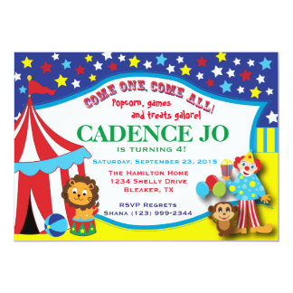 Circus Invitation 2