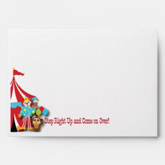 Circus Invitation Envelope