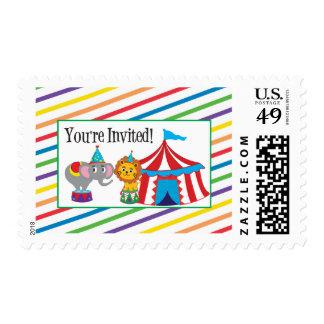 Circus Invitation Postage Stamp