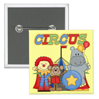 Circus is in Town Tshirts and Gifts 2 Inch Square Button