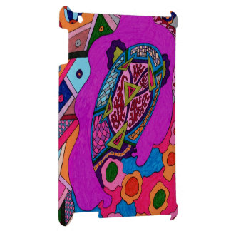 Circus Lion Abstract Poster iPad Cover