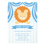 Circus Lion Baby Shower Inviation - Boy Invitation