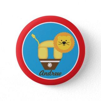 Circus Lion Birthday Button button