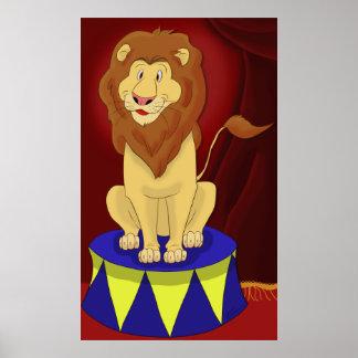 Circus Lion Poster Print